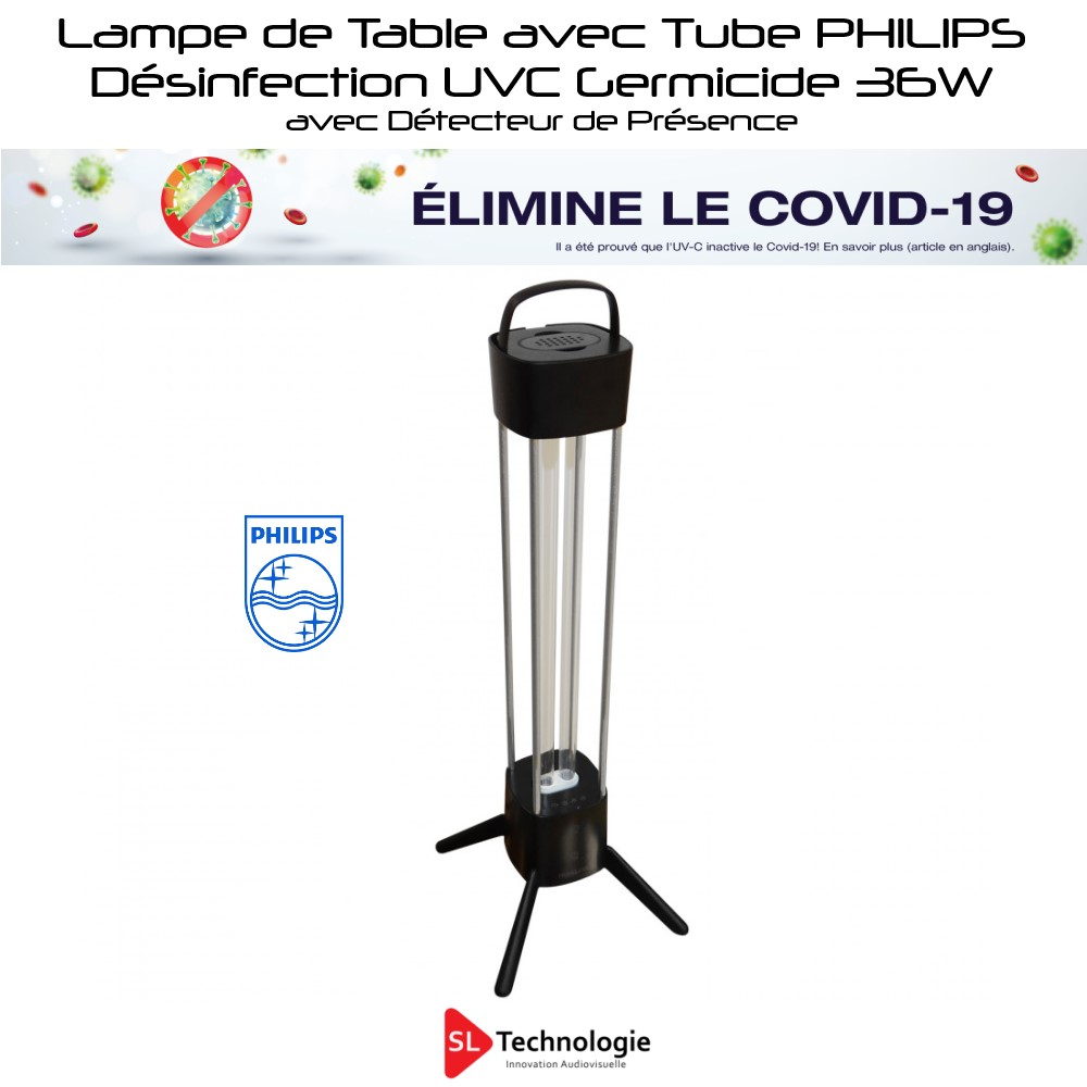 Lampe UV-C de table – Désinfection