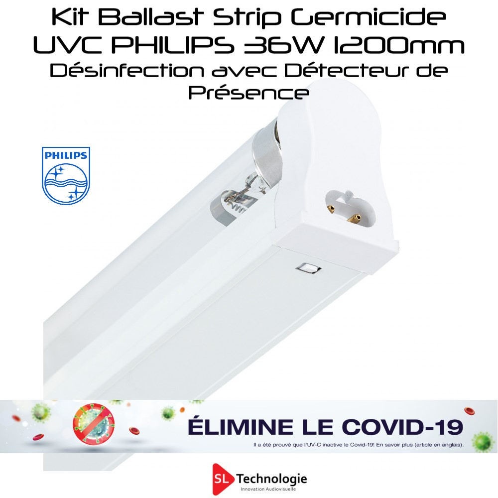 Kit Désinfection UV-C Tube 36W