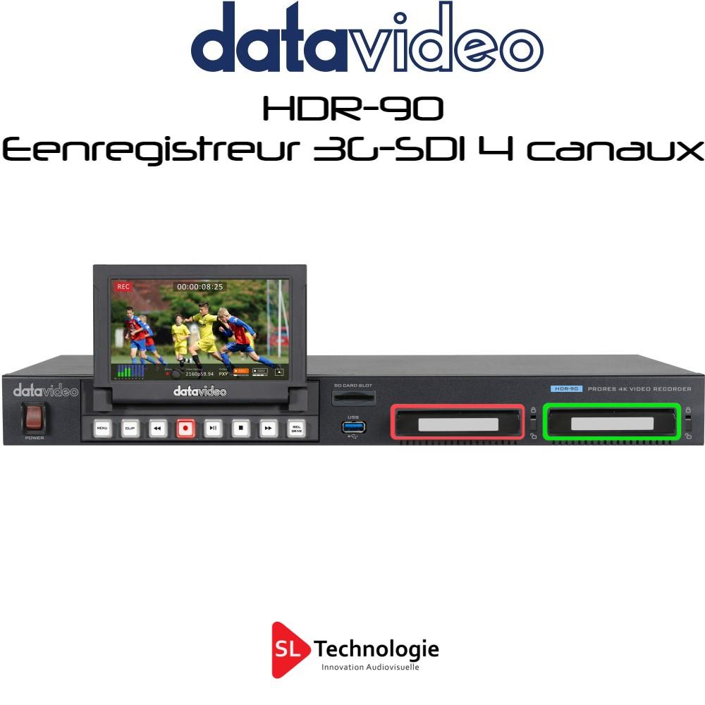 HDR-90 datavideo Enregistreur 4 canaux 3G-SDI