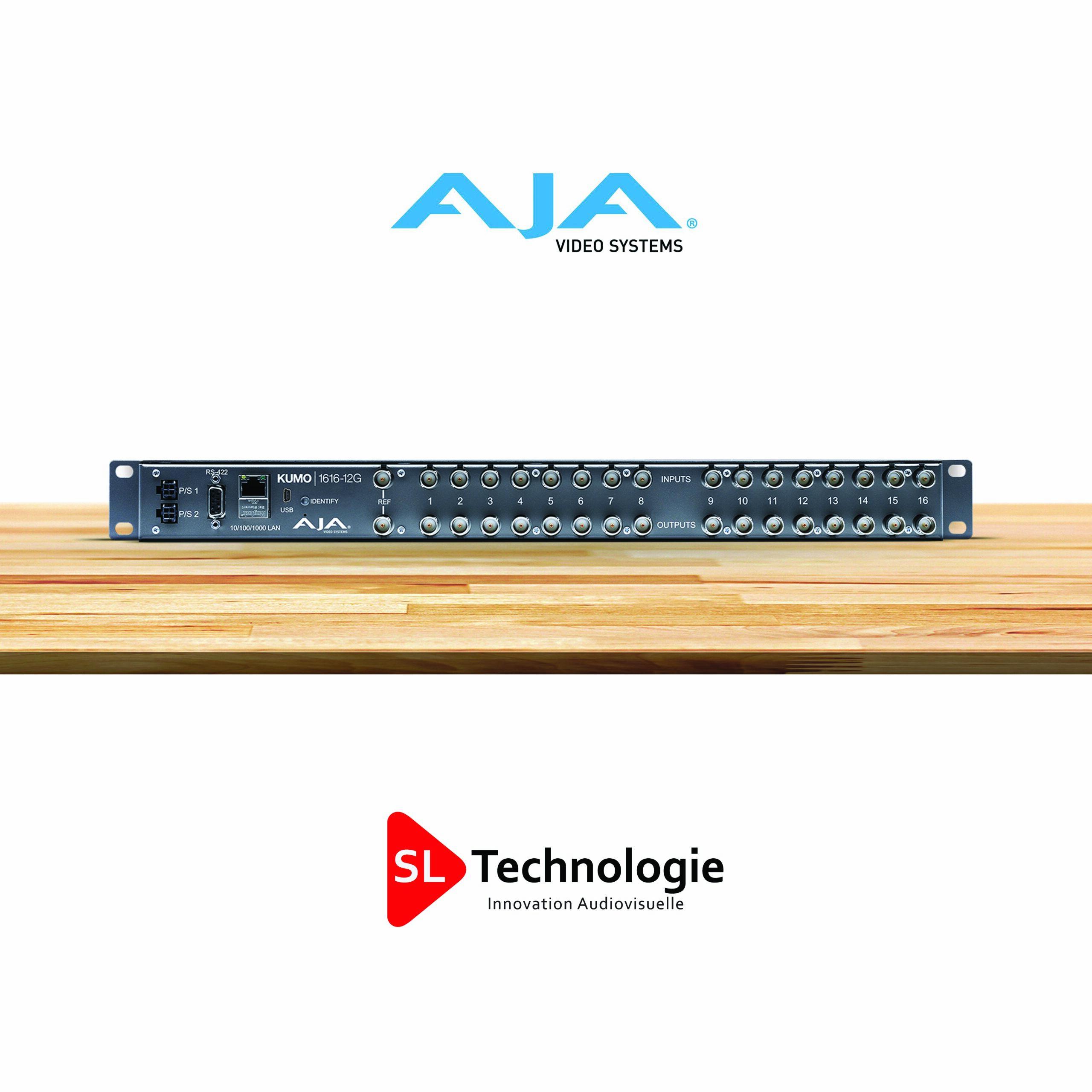 KUMO 1616-12G – Routeur compact 16×16 12G-SDI – AJA