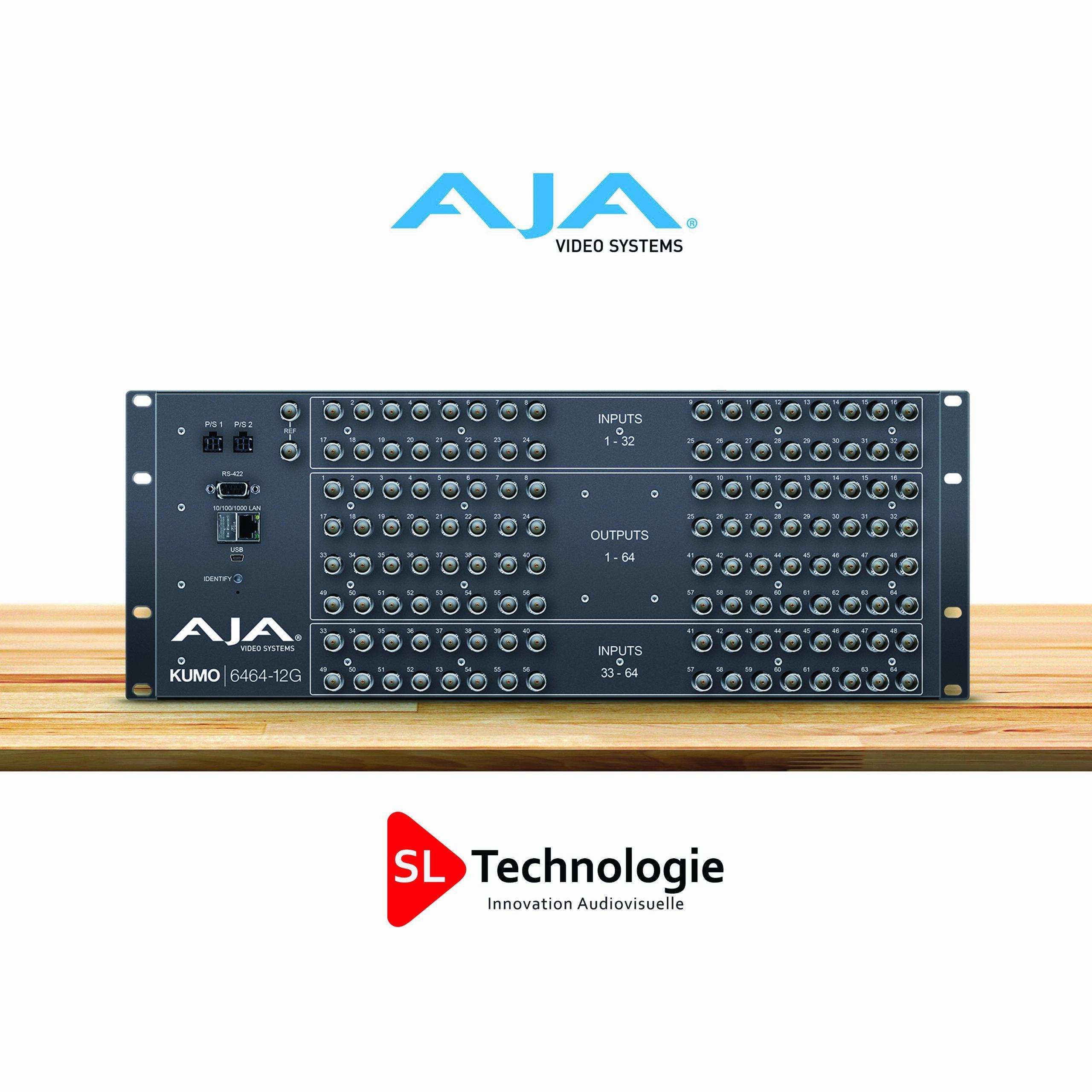 KUMO 6464-12G – Routeur compact 64×64 12G-SDI -AJA