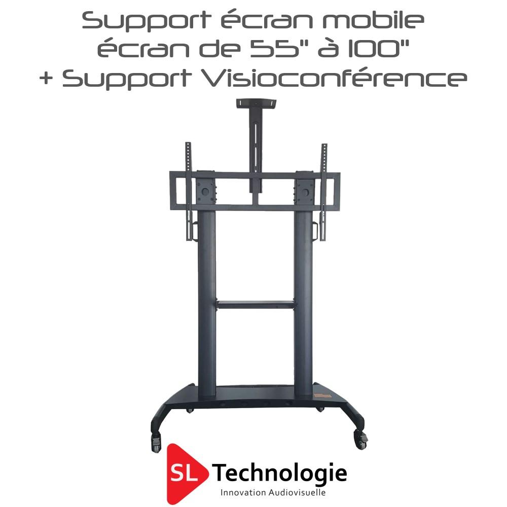 Support mobile pour écran plat HW 86