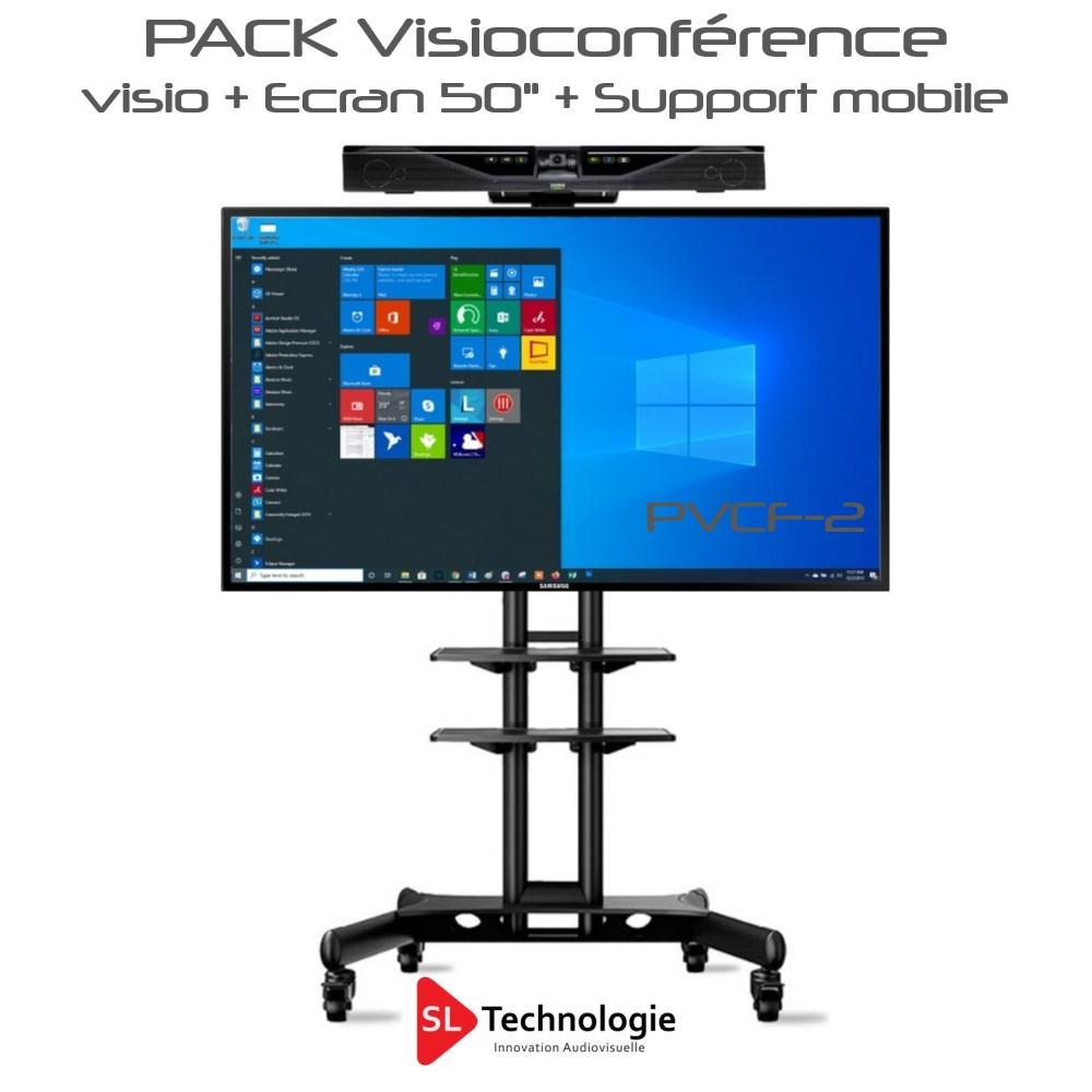 Pack Visioconférence 50″ mobile