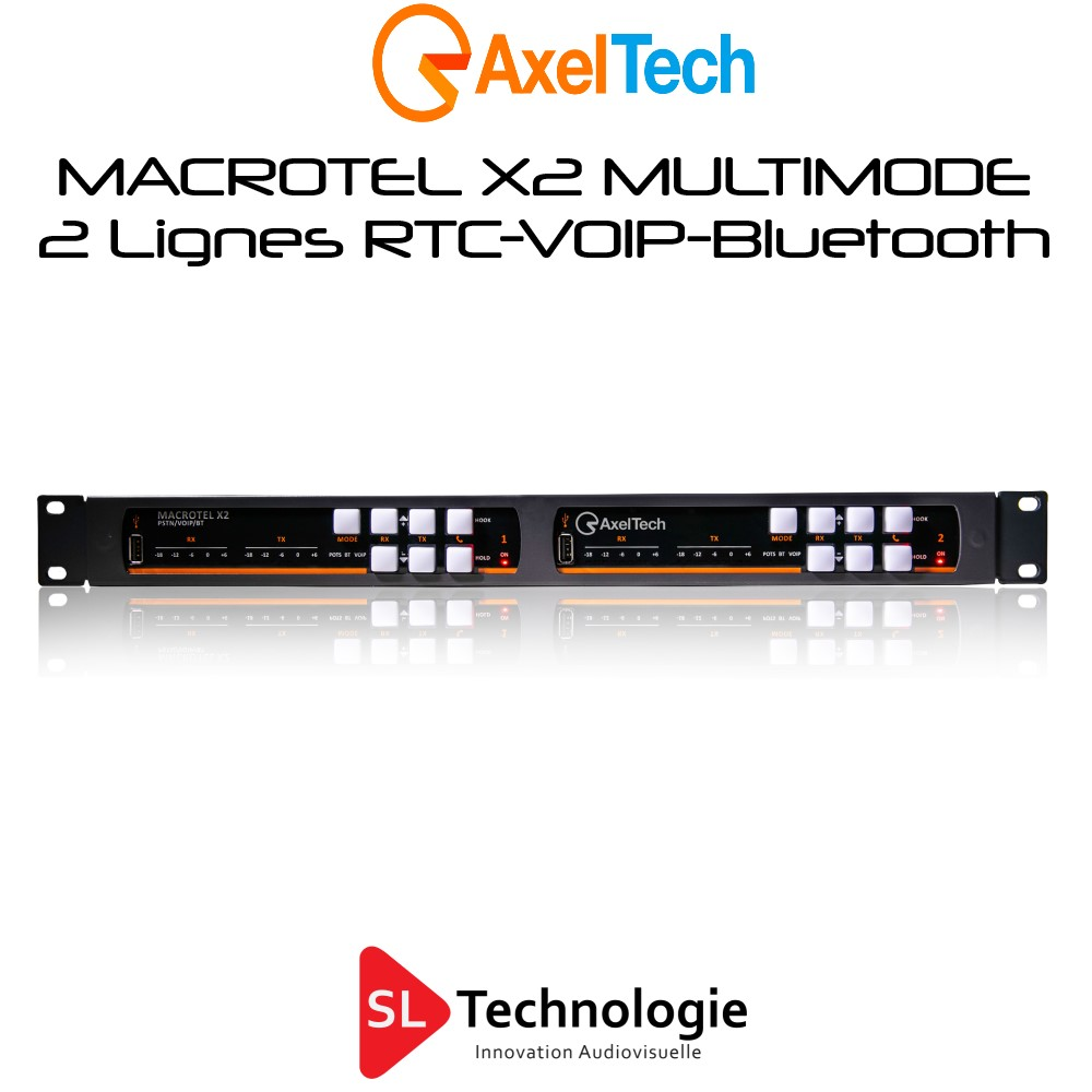 MACROTEL X2 MULTIMODE Insert Téléphonique RTC/VOIP/Bluetooth