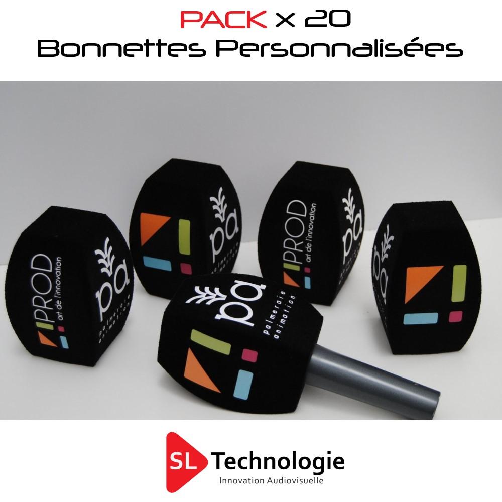 Pack 20 Bonnettes personnalisées