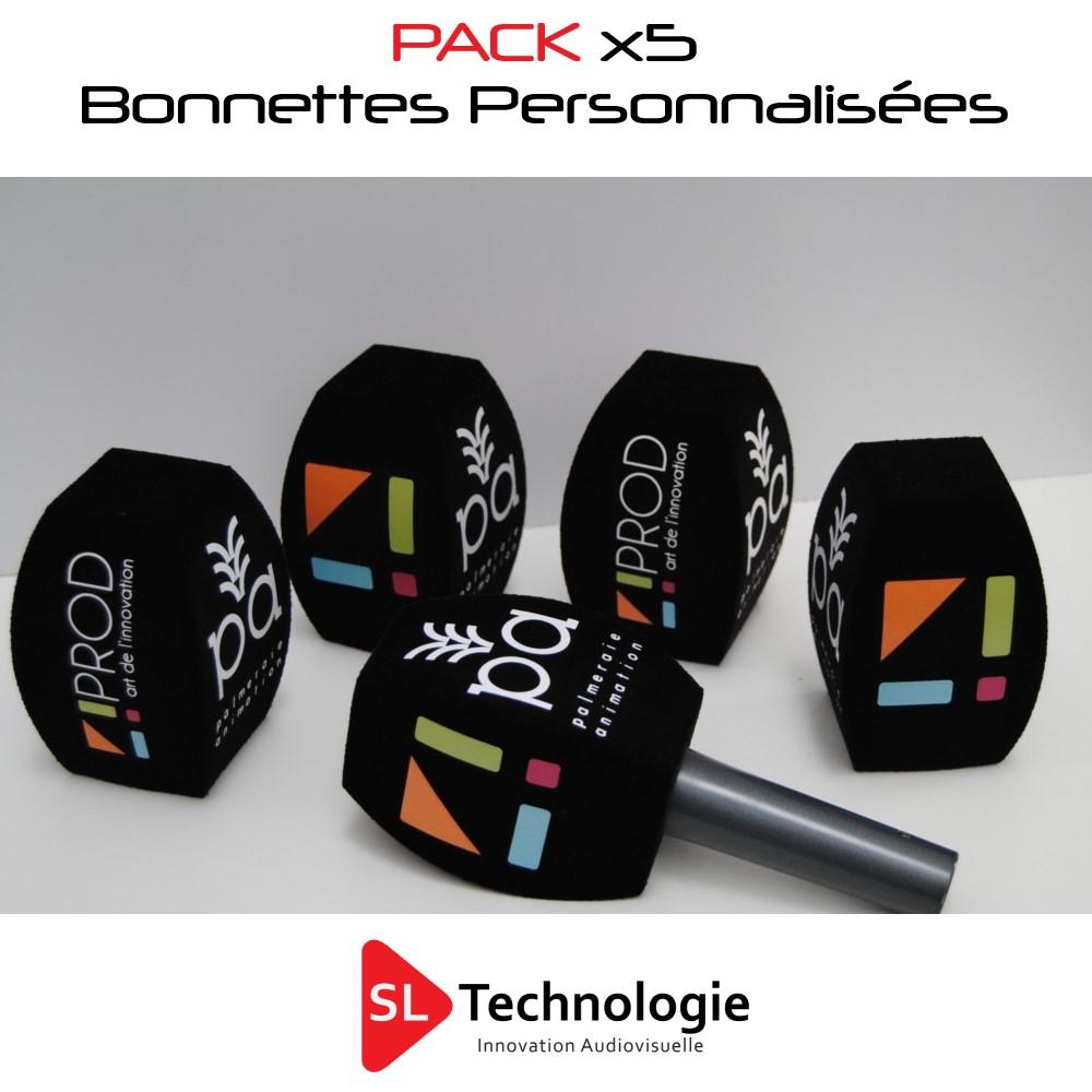 Pack 5 Bonnettes personnalisées