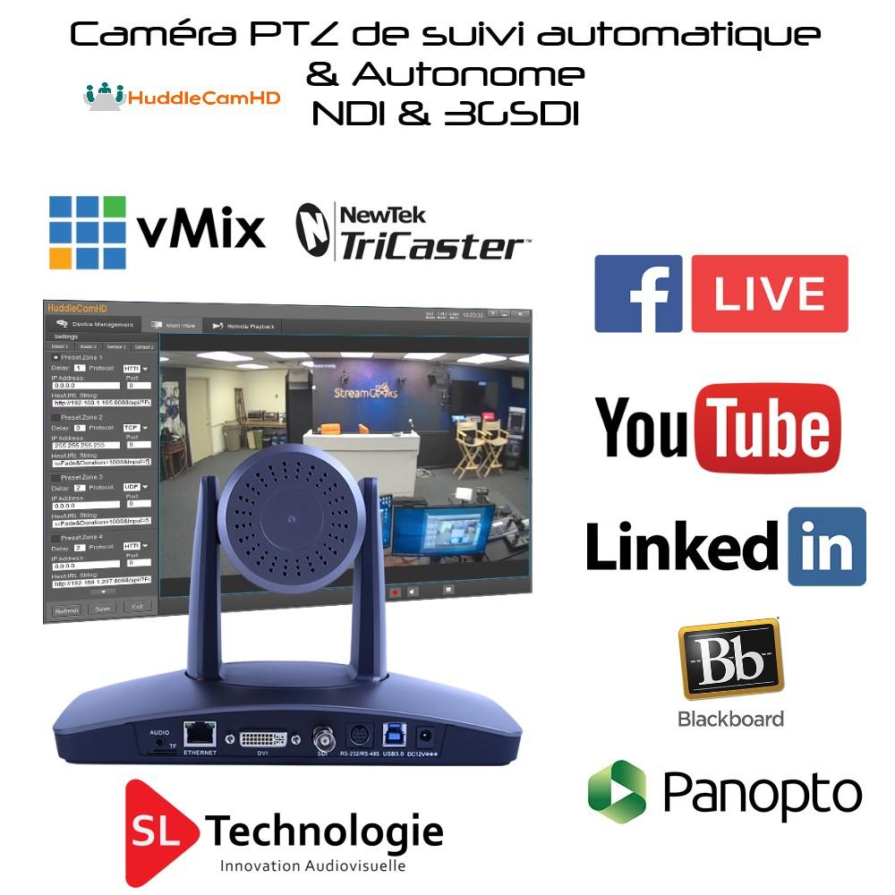 Read more about the article Caméra de suivi automatique HC20X HuddleCamHD