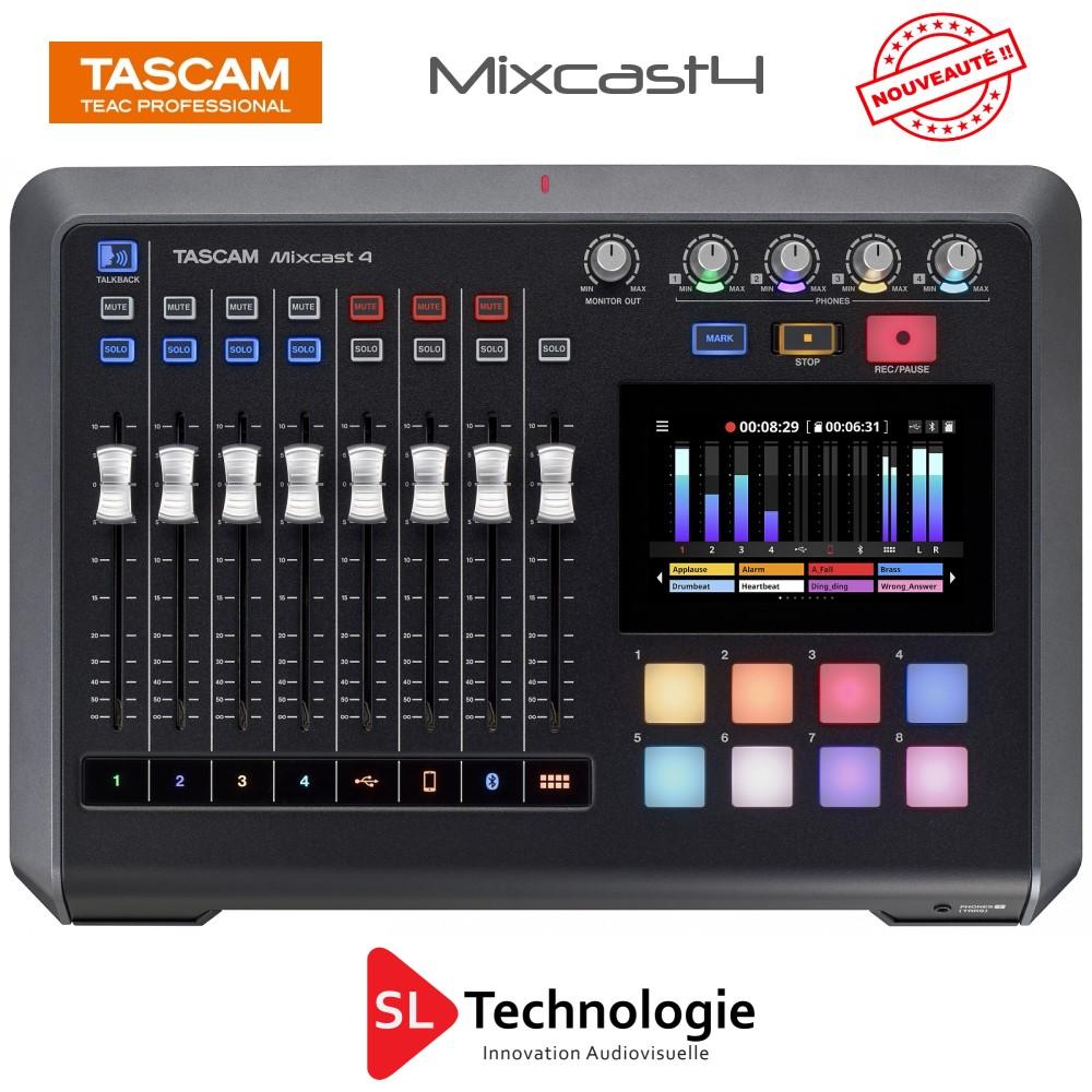 Read more about the article Tascam présente la station de podcasting Mixcast 4