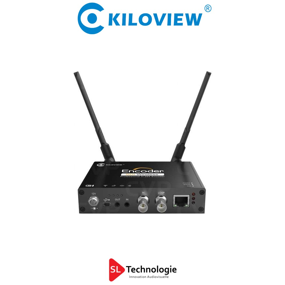 G1 Kiloview Encodeur vidéo Streaming 1080p WiFi Ethernet 4G SDI