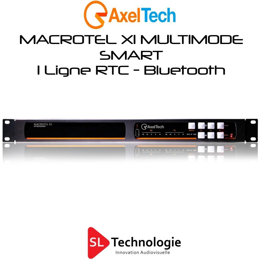 MACROTEL X1 MULTIMODE SMART Axel Tech Insert RTC – Bluetooth 1 Ligne