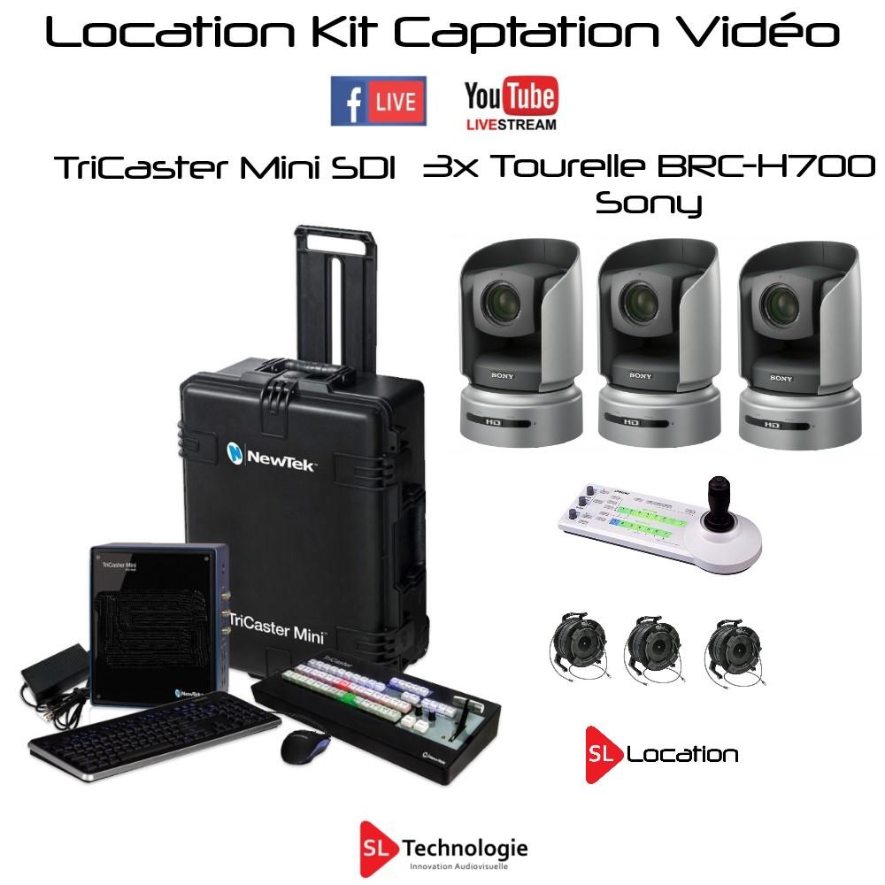 Location Tricaster Mini SDI + 3x BRC-H700 Sony